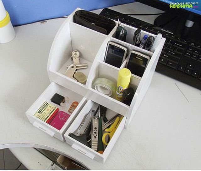 Органайзер для косметики своими руками из коробки