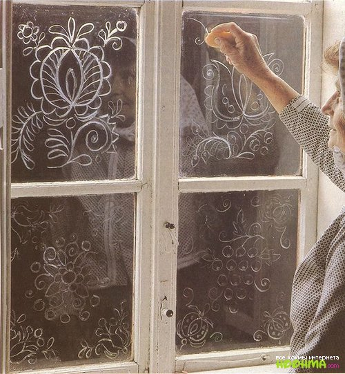 Узор на окно своими руками